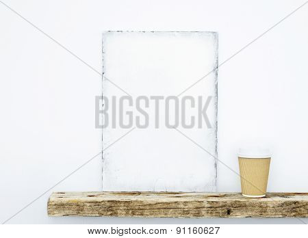 Hipster Scandinavian Design. Mood Board. Mock Up With Coffee Paper Cup
