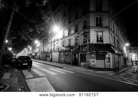 PARIS - SEP 06: Paris at night on September 06, 2014 in Paris, France. Night Paris have magic atmosphere without which any trip to Paris would be incomplete