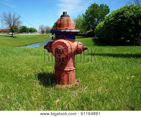 Fire Hydrant on a Lawn