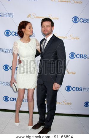LOS ANGELES - MAY 18:  Alyssa Campanella, Torrance Combs at the CBS Summer Soiree 2015 at the London Hotel on May 18, 2015 in West Hollywood, CA
