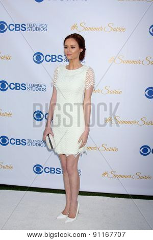LOS ANGELES - MAY 18:  Alyssa Campanella at the CBS Summer Soiree 2015 at the London Hotel on May 18, 2015 in West Hollywood, CA