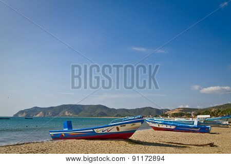 Puerto Lopez, popular vacation spot in the coast of Ecuador