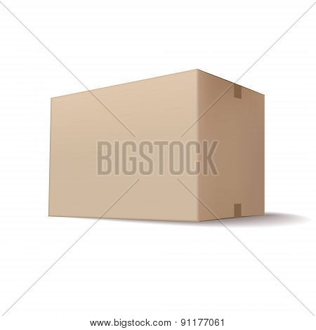 Closed Cardboard Box