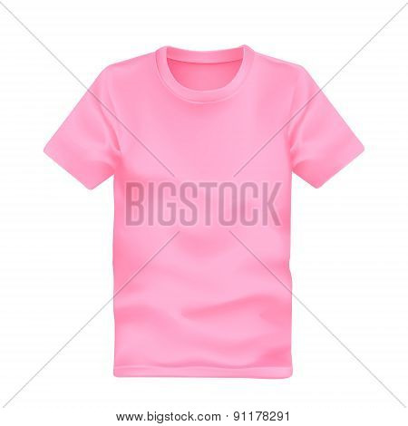 Man's T-shirt In Pink