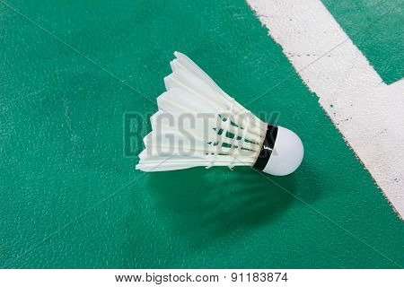 Shuttlecocks On Badminton Courts