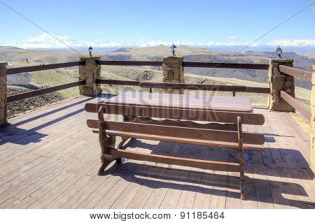 Open Verandah Of Mountain Cafe