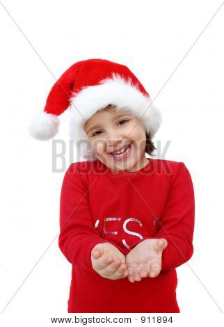 Little Girl Dressed Like Santa