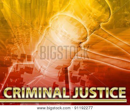 Abstract background digital collage concept illustration criminal justice legal courtroom poster