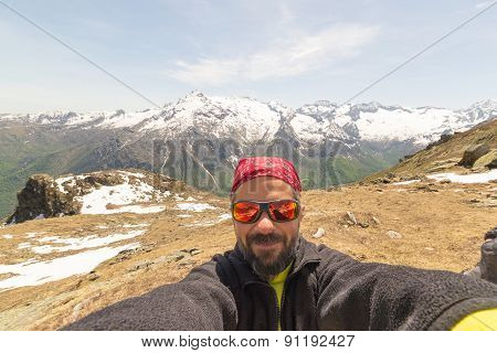 Selfie With The Alps In The Background