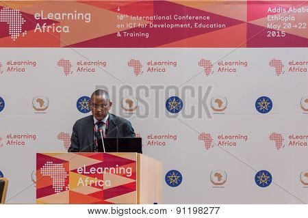 Dr Debretsion Gebremichael, Deputy Prime Minister And The Minister Of Communications And Information