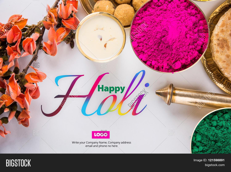 Happy Holi Greeting Image Photo Free Trial Bigstock