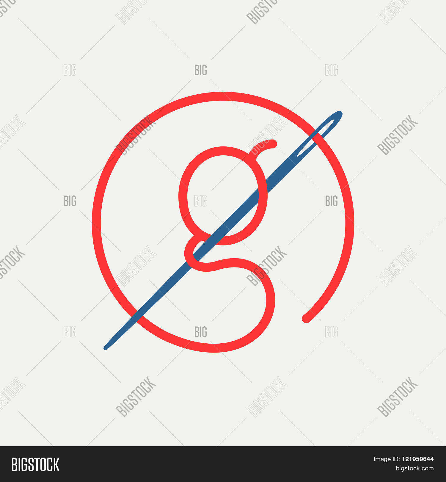 G Letter Logo Needle Vector Photo Free Trial Bigstock