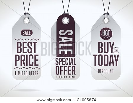 Sale tag vector isolated. Sale sticker with special advertisement offer. Sale tag template. Best price tag. Buy today tag. Special offer tag. Sale sticker. Special offer sale tag. Tag.