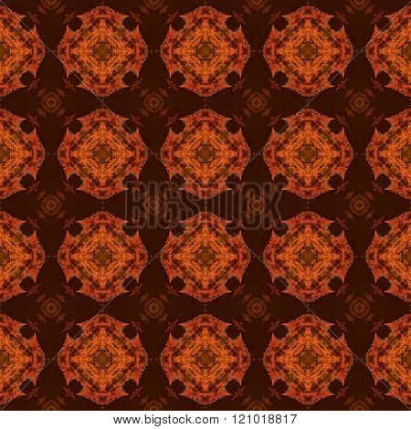 Abstract kaleidoscopic decorative floral seamless pattern