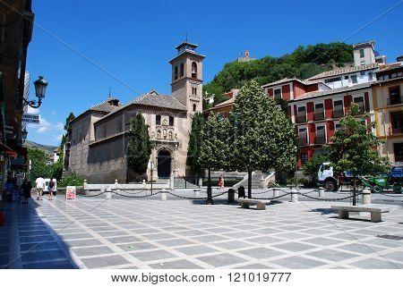 Santa Ana church in the Plaza Nueva, Granada.