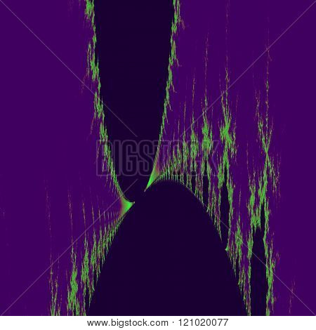 Abstract violet green fractal background - digitally rendered graphic