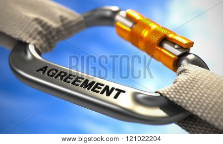 Chrome Carabine Hook with Text Agreement.