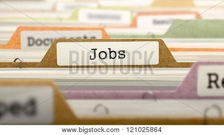 Jobs Concept on Folder Register.