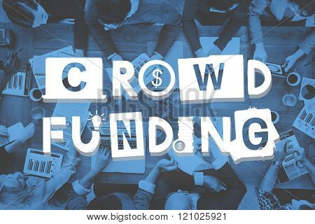 Crowd Funding Fundraising Contribution Investment Concept