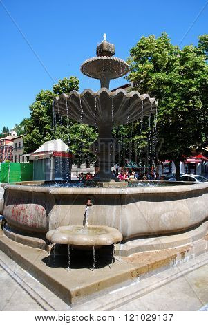 Fountain in the Albaicin, Granada.