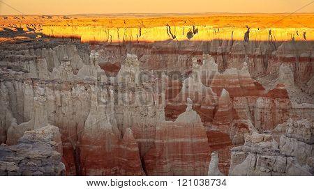 Coal Mine Canyon At Sunset