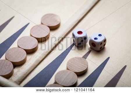 Backgammon Board And Dice