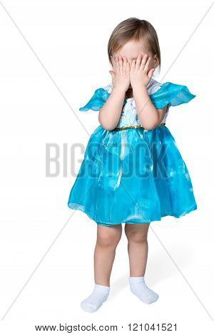 Girl Closed Her Eyes With Hands