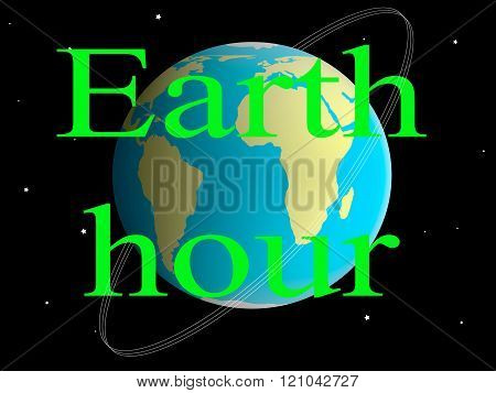 Illustration Of Earth Hour