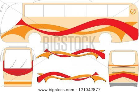 Bus Graphics, Stripe : Vinyl Ready Vector Illustration
