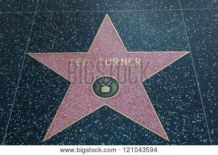 Ted Turner Hollywood Star