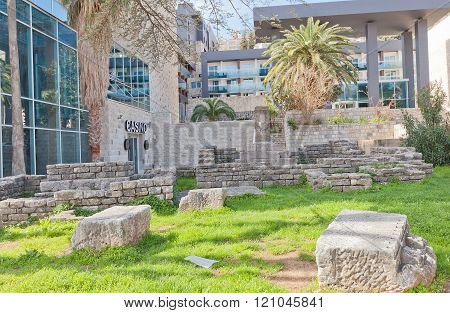 Remains Of Roman Necropolis In Budva, Montenegro