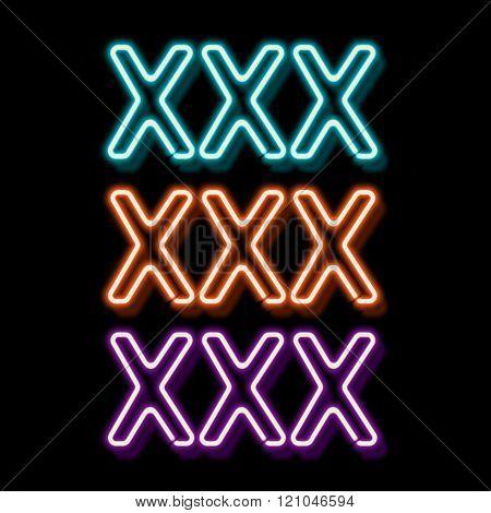 Erotic neon sign