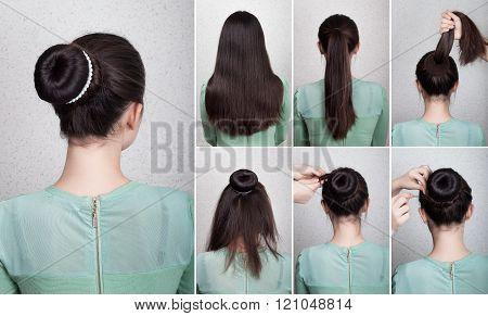 Hairstyle Tutorial  Elegant Bun With Chignon