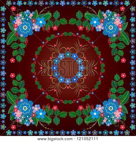 Floral Background, Vector Floral Pattern