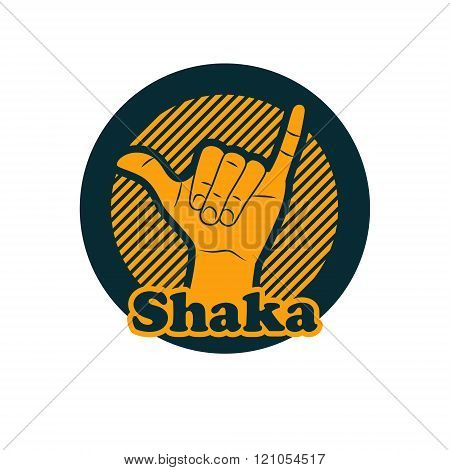 Shaka Or Hang Loose Sign Gesture.
