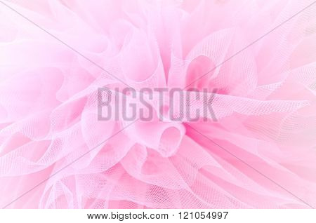 Beautiful delicate pink background mesh fluffy fabric. Pink tutu
