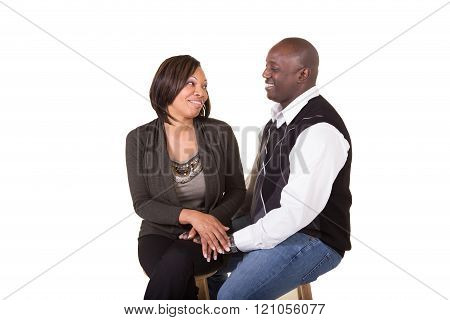 Portrait of an attractive couple being close and interacting