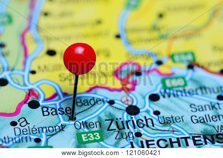 Olten pinned on a map of Switzerland