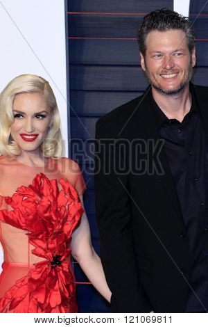 LOS ANGELES - MAR 3:  Gwen Stefani, Blake Shelton at the Bosch Season 2 Premiere Screening at the Silver Screen Theater at the Pacific Design Center on March 3, 2016 in West Hollywood, CA
