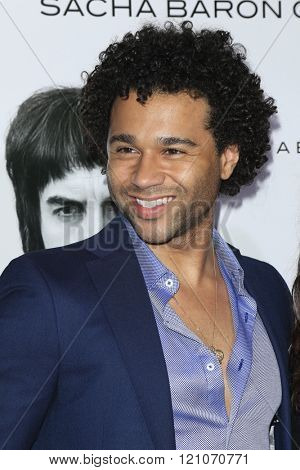 LOS ANGELES - MAR 3:  Corbin Bleu at the The Brothers Grimsby Premiere at the Regency Village Theater on March 3, 2016 in Westwood, CA