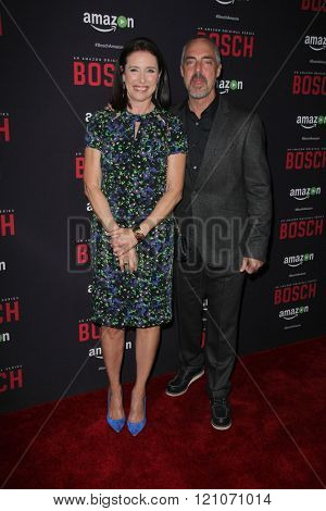 LOS ANGELES - MAR 3:  Mimi Rogers, Titus Welliver at the Bosch Season 2 Premiere Screening at the Silver Screen Theater at the Pacific Design Center on March 3, 2016 in West Hollywood, CA