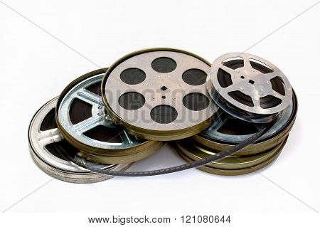 old film strip with banks