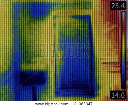Toilet Flusher Water Leak Thermogram