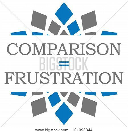 Comparison  Equals Frustration Blue Grey Elements Square