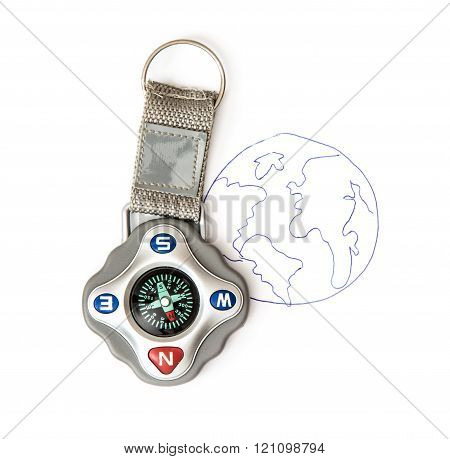 Compass And Sketch Of The Earth, Travelling Theme
