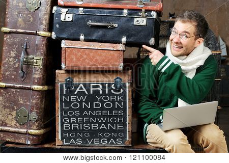 Guy and luggage