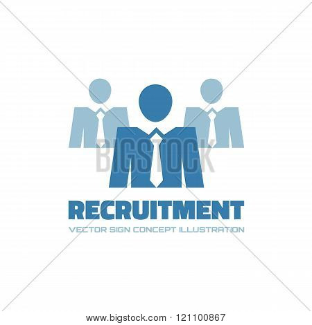 Recruitment agency - vector logo concept illustration. Businessman logo icon. People logo icon.