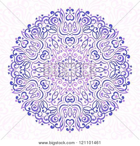 Abstract Flower Mandala. Decorative ethnic element for design.