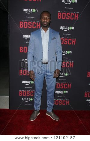 LOS ANGELES - MAR 3:  Jamie Hector at the Bosch Season 2 Premiere Screening at the Silver Screen Theater at the Pacific Design Center on March 3, 2016 in West Hollywood, CA