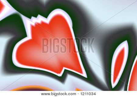 Abstract Composition, Red Heart
